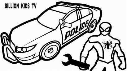 Coloring Police Pages Station Suv Drawing Printable