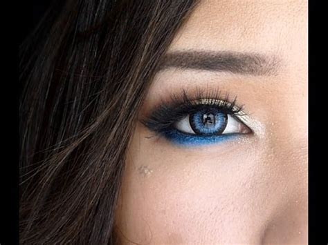 modern blue eye makeup day  night youtube