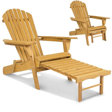 adirondack chaise outdoor adirondack wood chair foldable w pull out ottoman