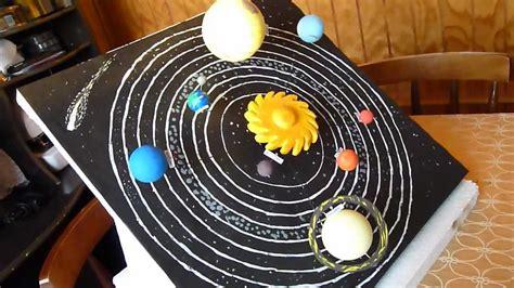 maqueta sistema solar giratorio youtube