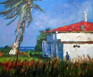 Tableau Peinture Sur Toile : tableau antillais peinture sur toile maison des antilles ~ Teatrodelosmanantiales.com Idées de Décoration