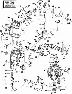 Evinrude Fuel Bracket  U0026 Components Parts For 2000 150hp