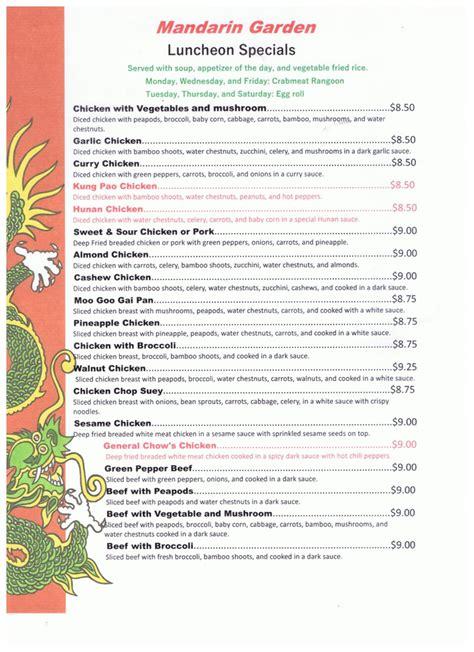 china kitchen menu green bay mandarin garden lunch menu green bay wi 8203