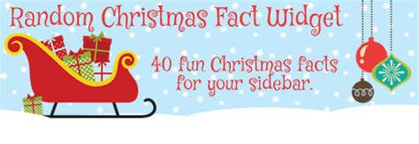 random christmas fact widget christmas webmaster