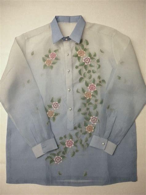 barong tagalog  floral pattern fashion barong