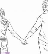 Holding Hands Boy Drawing Coloring Cartoon Easy Pages Draw Drawings Sketch Couple Cute Getdrawings Hand Anime Printable Hold Print Lovers sketch template