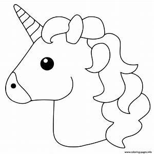 Unicorn Emoji Coloring Pages Printable