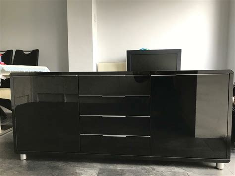 High Gloss Sideboard Black by Black High Gloss Sideboard In Newton Le Willows