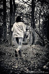 Scared Girl Running Stock Image - Image: 34402001