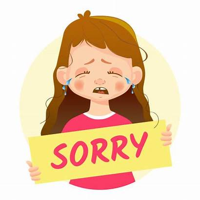 Sorry Apology Letter Triste Holding Clip Apologize