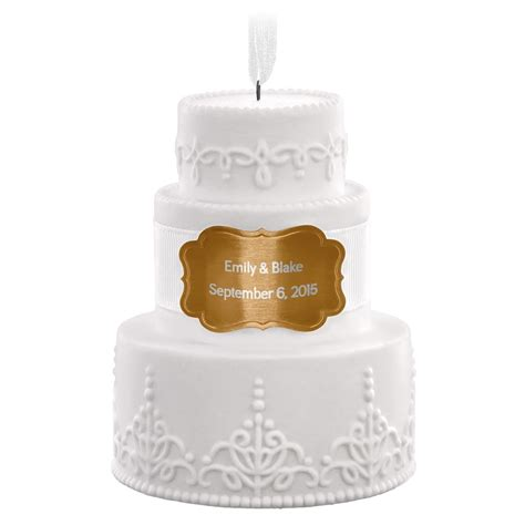 wedding cake personalized ornament personalized