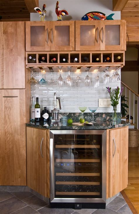 country style kitchen with fascinating corner bar