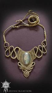 Makramee Kette Anleitung : victorian steampunk macrame necklace with labradorite gemstone goddess tiara goddess necklace ~ Watch28wear.com Haus und Dekorationen