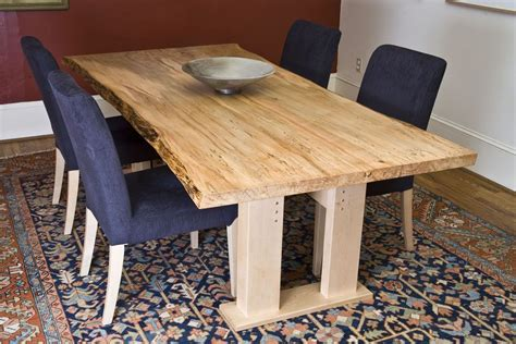 farmhouse kitchen furniture custom made ambrosia maple dining table live edge by