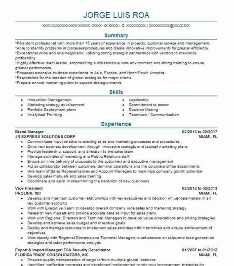 Brand Manager Resume by Best Brand Manager Resume Exle Livecareer