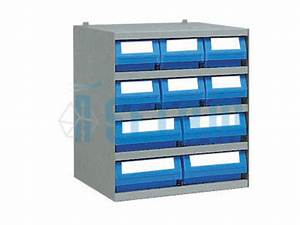 Casier Rangement Papier : casier avec 10 bacs tiroirs plastique de rangement contact setam rayonnage et mobilier ~ Teatrodelosmanantiales.com Idées de Décoration