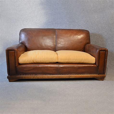 leather sofa vintage sofa vintage leather antique 2 seater club settee antiques atlas