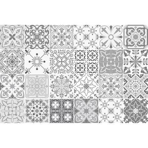 stickers carrelage carreaux de ciment 24 stickers carreaux de ciment nuances de gris gythio salle de bain et wc salle de bain
