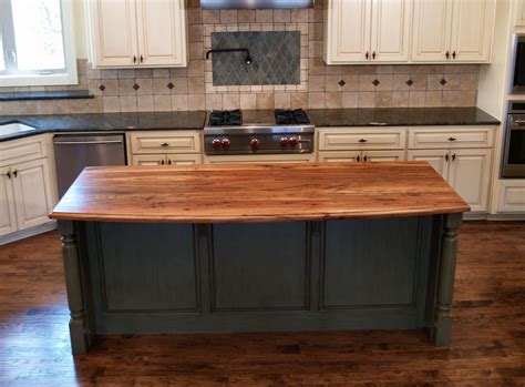 kitchen island tops spalted pecan wood countertop photo gallery by devos