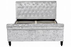 Stjames fabric double bed crushed silver for James furniture and mattress deals