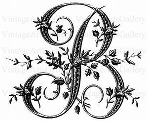 French alphabet stencil large letter b monogram for Large monogram letter stencil
