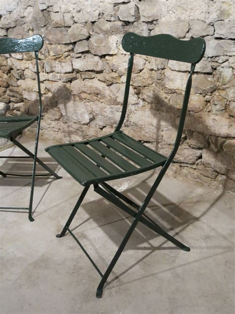 """French Antique """"gardenchairs"""" From Paris, France, 19th"""