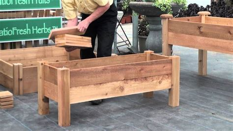 how to build planters for vegetables how to build a simple elevated garden bed with louis damm
