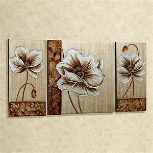subtle elegance floral canvas wall art set With floral wall art