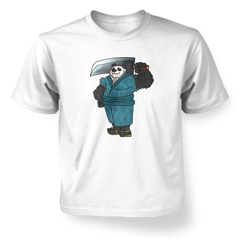 T Shirt Panda Black Metal Putih warrior panda t shirt somethinggeeky