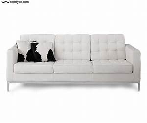 Home furniture living room furniture sofas lc white for White leather sofa