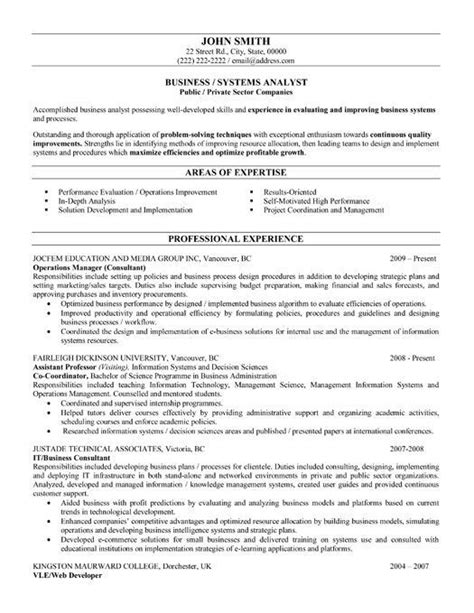Business Analytics Resume by 10 Best Images About Best Business Analyst Resume