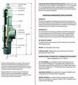 Baird Manufacturer 2 U201d  U0026 3 U0026quot  Back Pressure Regulator