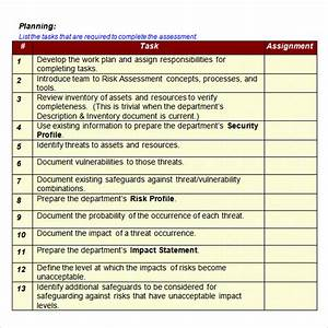 12 sample it risk assessment templates sample templates With risk assessment security survey template