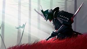 Samurai, Digital, Wallpaper, Sword, Blood, Fantasy, Armor, Weapon, U2022, Wallpaper, For, You, Hd, Wallpaper