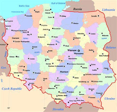 polen regionen karte
