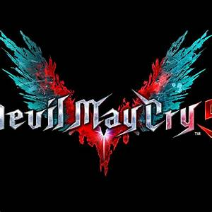 Wallpaper Devil May Cry 5 Logo Dark Background Black
