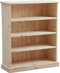Meuble Bois Brut : meuble biblioth que bois brut ~ Teatrodelosmanantiales.com Idées de Décoration