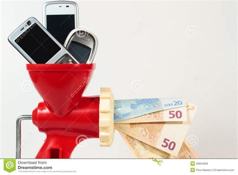 mobile recycle recycle mobile phone get money stock image image 25654029