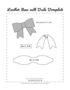 Ashe Bow Template by Freebie Friday Printable Paper Bows Zaydans 1st