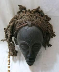 African Chowke Tribal  U0026quot Mwana Pwo U0026quot  Mask - Circa 1940