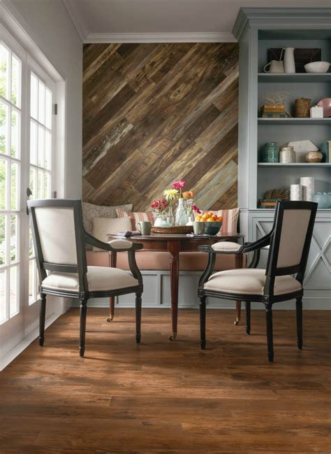 Wood Feature Accent Wall Ideas Using Flooring   Fox Hollow