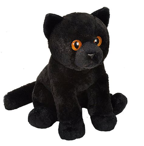 black cat stuffed animal cm soft plush toy pet shop