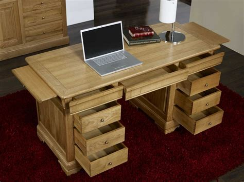 ikea meubles bureau bureau ministre 9 tiroirs en chêne massif de style louis