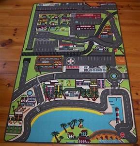 tapis de jeu pour enfant circuit de voiture dans la ville With tapis auto enfant