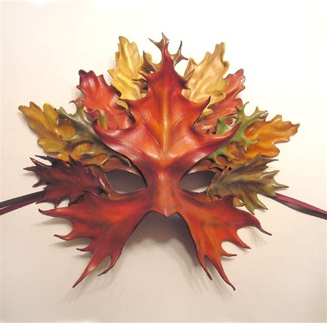 ls made from leaves leather leaf mask by teonova by teonova on deviantart