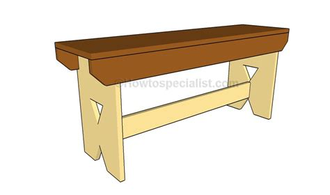 simple bench plans howtospecialist   build step  step diy plans