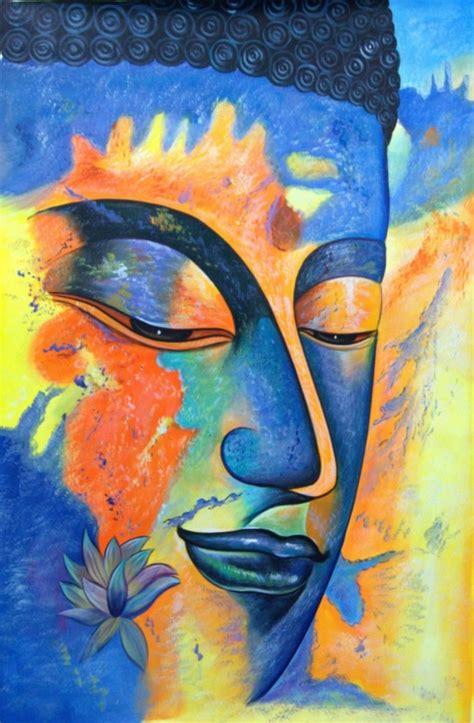 peaceful gautam buddha painting ideas  feel calm