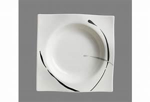 Geschirr Eckig Weiß : via by r b teller tief porzellan 22x22x3cm eckig dacapo grau schwarz ~ Whattoseeinmadrid.com Haus und Dekorationen