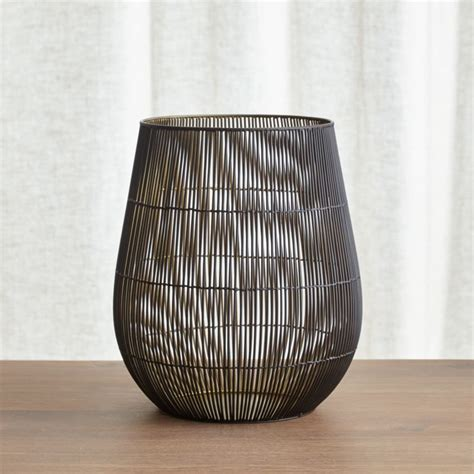 kent wire large hurricane candle holder crate  barrel