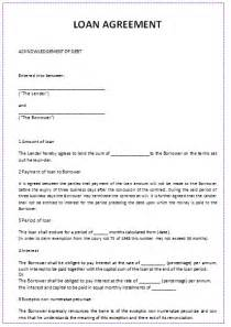 Sample Loan Agreement Template